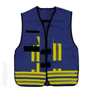 Funktions-Kennzeichnungs-Weste,blau Feuerwehr-Rettungsdienst gemäß EN 471 / EN 531