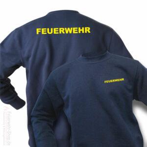 Sweatshirt mit Feuerwehrschriftzug