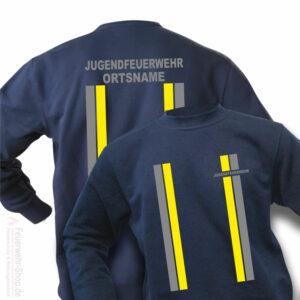 Jugendfeuerwehr Premium Pullover im Einsatzlook mit Ortsnamen