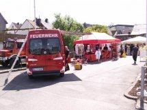 Mobiler Feuerwehr-Shop in Warstein