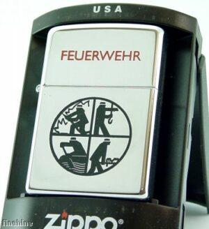 Zippo Feuerzeug Feuerwehr Signet Chrom Polished