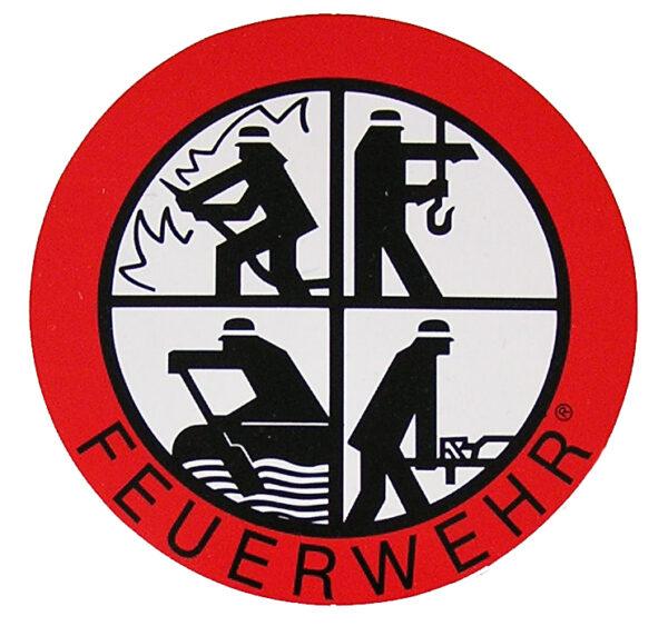 Feuerwehr Aufkleber Signet 90 mm