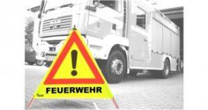 Feuerwehr Warnpyramide neongelb 70 cm-0