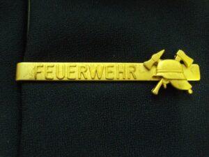 Krawattenclip FEUERWEHR-Helm goldfarbig
