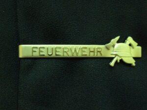 Krawattenclip FEUERWEHR-Helm silberfarbig