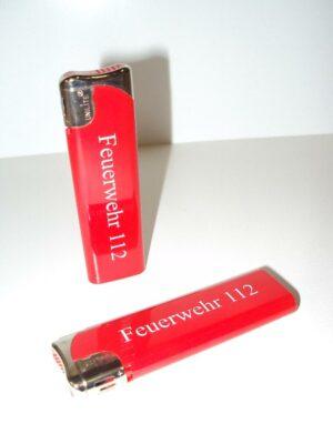 Feuerzeug mit Feuerwehr112 Aufschrift