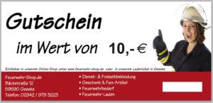 Geschenkgutschein im Wert von 10,00 €