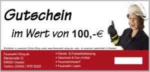 Geschenkgutschein im Wert von 100,00 €
