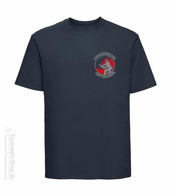 T-Shirt mit Feuerwehrmotiv und Ortsname