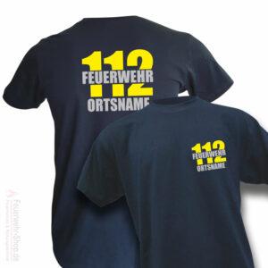 Feuerwehr Premium T-Shirt Firefighter II mit Ortsname