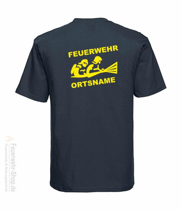 Feuerwehr Premium T-Shirt Firefighter III mit Ortsname