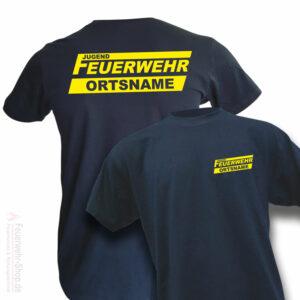 Jugendfeuerwehr Premium T-Shirt Logo mit Ortsname