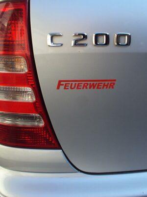 """Aufkleber Feuerwehr """"F112"""" reflektierend"""