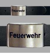 """Koppelgürtel """"FEUERWEHR"""" schwarz graviert"""