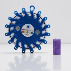 Warnblitzer / Powerflare blau, Batteriebetrieb