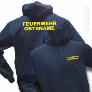 Feuerwehr Premium Kapuzen-Sweatshirt Basis mit Ortsnamen