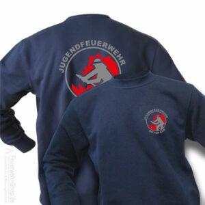 Jugendfeuerwehr Premium Pullover Firefighter I mit Ortsnamen