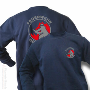 Feuerwehr Premium Pullover Firefighter I mit Ortsnamen