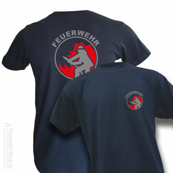 T-Shirt mit Feuerwehr Motiv