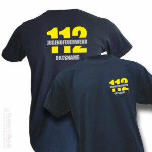 Jugendfeuerwehr Premium T-Shirt Firefighter II mit Ortsname