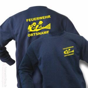 Feuerwehr Premium Pullover Firefighter III mit Ortsnamen