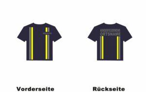 Kinderfeuerwehr T-Shirt im Einsatzlook mit Ortsnamen
