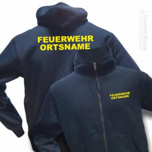 Feuerwehr Premium Kapuzen-Sweatjacke Basis mit Ortsnamen