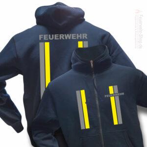 Feuerwehr Premium Kapuzen-Sweatjacke im Einsatzlook