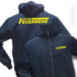 Feuerwehr Premium Kapuzen-Sweatjacke Freiwillige Feuerwehr Logo