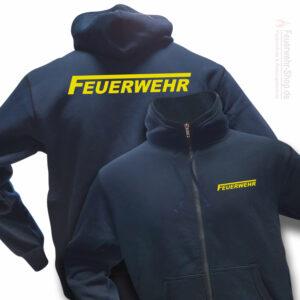 Feuerwehr Premium Kapuzen-Sweatjacke Logo
