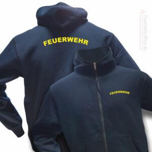 Feuerwehr Premium Kapuzen-Sweatjacke Rundlogo