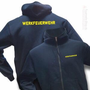 Feuerwehr Premium Kapuzen-Sweatjacke Werkfeuerwehr I