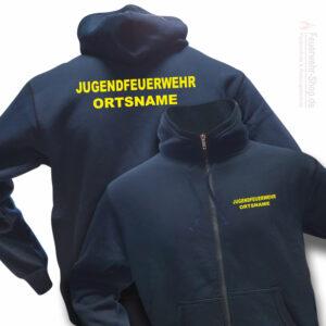 Jugendfeuerwehr Premium Kapuzen-Sweatjacke Basis mit Ortsnamen
