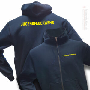 Jugendfeuerwehr Premium Kapuzen-Sweatjacke Basis