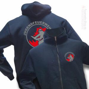 Jugendfeuerwehr Premium Kapuzen-Sweatjacke Firefighter I