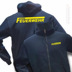 Jugendfeuerwehr Premium Kapuzen-Sweatjacke Logo