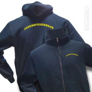 Jugendfeuerwehr Premium Kapuzen-Sweatjacke Rundlogo