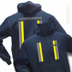 Jugendfeuerwehr Premium Kapuzen-Sweatshirt im Einsatzlook