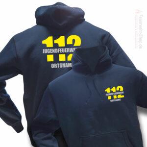 Jugendfeuerwehr Premium Kapuzen-Sweatshirt Firefighter II mit Ortsnamen