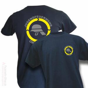 Jugendfeuerwehr Premium T-Shirt Helm mit Ortsname
