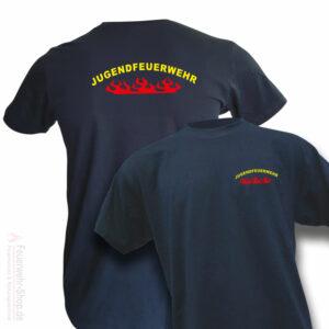 Jugendfeuerwehr Premium T-Shirt Rundlogo Flamme