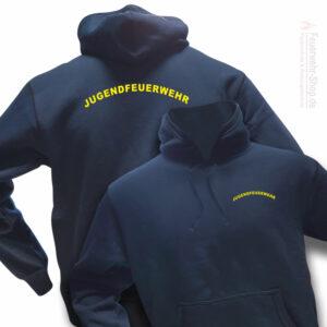 Jugendfeuerwehr Premium Kapuzen-Sweatshirt Rundlogo