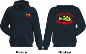 Jugendfeuerwehr Kapuzen-Sweatshirt Modell Firefighter IIII mit Ortsnamen