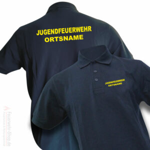 Jugendfeuerwehr Premium Poloshirt Basis mit Ortsname