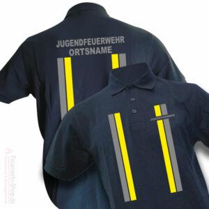 Jugendfeuerwehr Premium Poloshirt im Einsatzlook mit Ortsnamen