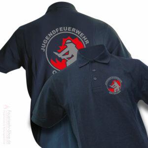 Jugendfeuerwehr Premium Poloshirt Firefighter I mit Ortsname