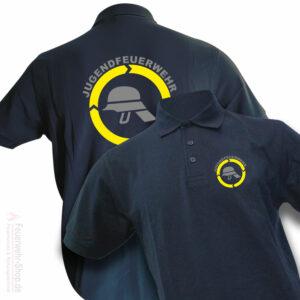 Jugendfeuerwehr Premium Poloshirt Helm