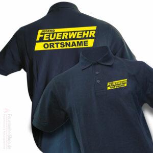 Jugendfeuerwehr Premium Poloshirt Logo mit Ortsnamen