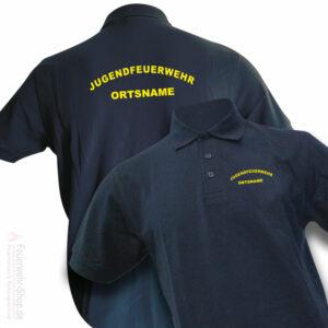 Jugendfeuerwehr Premium Poloshirt Rundlogo mit Ortsnamen