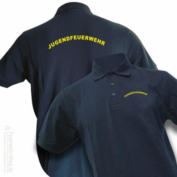 Jugendfeuerwehr Premium Poloshirt Rundlogo